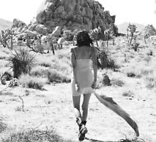 Girl In The Desert with Scarf by laurenelisabeth