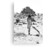 Girl In The Desert with Scarf Canvas Print