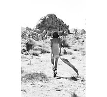 Girl In The Desert with Scarf Photographic Print