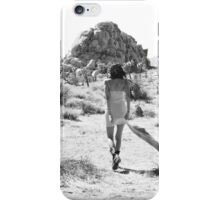 Girl In The Desert with Scarf iPhone Case/Skin