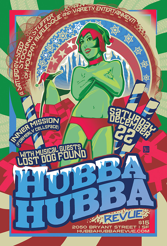 Poster for Hubba Hubba Revue, December 2012 by caseycastille