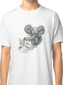 Doc Elephant Brown Classic T-Shirt