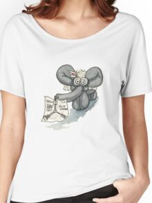 Doc Elephant Brown Women's Relaxed Fit T-Shirt