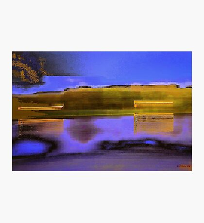 Landscape corrupted by abstract elements Photographic Print