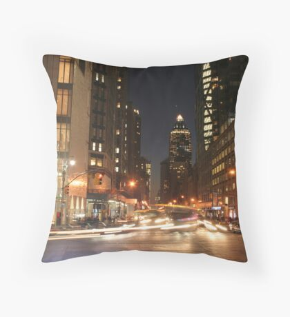 Columbus Circle NYC Throw Pillow