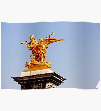Statue, Paris, France Poster