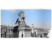 Marly Horse - Place De La Concorde, Paris, France Poster