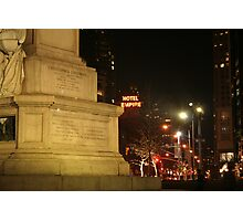 Columbus Circle NYC Photographic Print