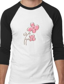 Cute floral Men's Baseball ¾ T-Shirt