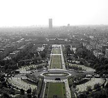 View from the Eiffel Tower, Paris France by Neroli Henderson