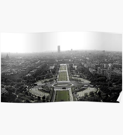 View from the Eiffel Tower, Paris France Poster