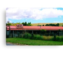 Roadside Motel Canvas Print