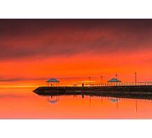 Wow What a Sunrise - Wynnum Qld Australia Photographic Print