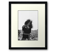 Model in the Desert  Framed Print