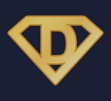 Golden superman letter One Piece - Short Sleeve
