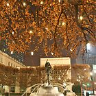 Christmas Fountain Statue with Lights by Stuart Steele