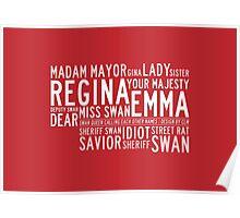 Swan Queen Nicknames (red) Poster