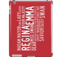 Swan Queen Nicknames (red) iPad Case/Skin