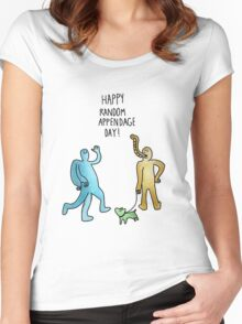 Happy Random Appendage Day Women's Fitted Scoop T-Shirt