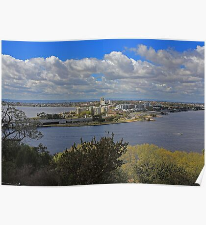 Como & S Perth from King's Park Poster
