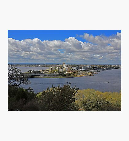 Como & S Perth from King's Park Photographic Print
