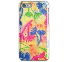 COW PARSLEY 2 - Cheerful Yellow Cherry Acid Green Nature Floral Abstract Watercolor Painting Pattern iPhone Case/Skin