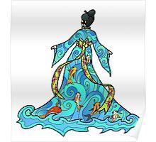 koi Dress Poster