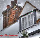 Winter Cottage Christmas Card by Vicki Spindler (VHS Photography)