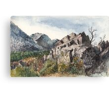 The rock Canvas Print