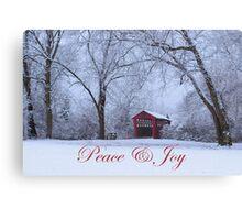 Peace & Joy Canvas Print