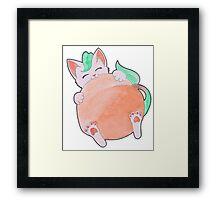 Peach Kitten Framed Print