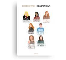 Doctor Who |Companions (alternate version) Metal Print