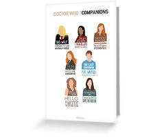 Doctor Who | Companions (alternate version) Greeting Card