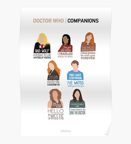 Doctor Who | Companions (alternate version) Poster