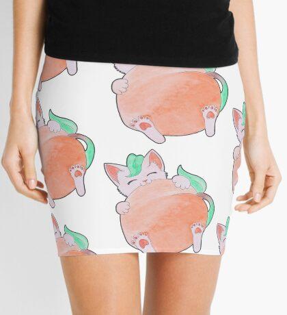 Peach Kitten Mini Skirt
