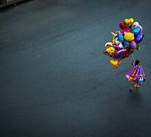 The Balloon Seller by Zati
