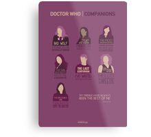 Doctor Who |Companions Metal Print