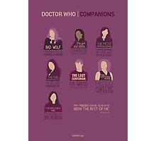 Doctor Who |Companions Photographic Print