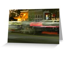 Downtown Carriages Greeting Card