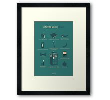 Doctor Who | Items Framed Print