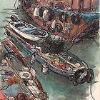 Sampans in Sai Kung  by Adolfo Arranz