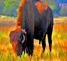 Painted Buffalo iPad Case by ipadjohn
