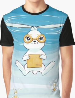 Postal Bunny Graphic T-Shirt