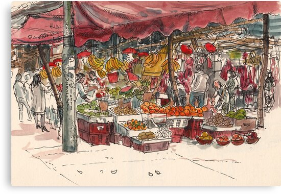Street market by Adolfo Arranz