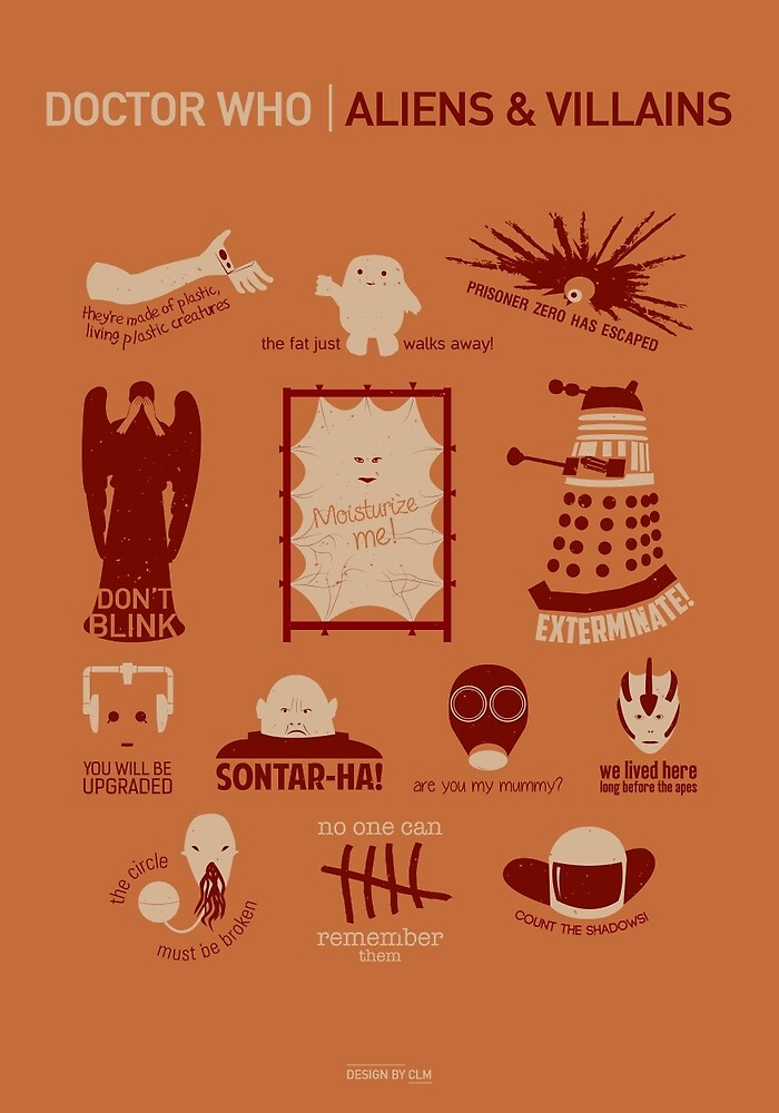 Doctor Who | Aliens & Villains (alternate version) by CLMdesign