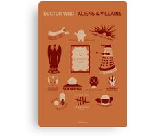 Doctor Who | Aliens & Villains (alternate version) Canvas Print