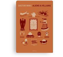 Doctor Who |Aliens & Villains (alternate version) Canvas Print