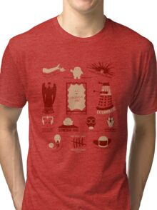 Doctor Who | Aliens & Villains (alternate version) Tri-blend T-Shirt