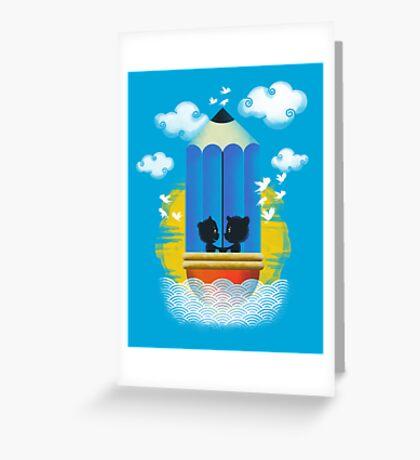 Cruisin in the Art of Love Greeting Card