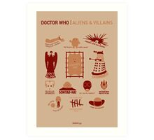 Doctor Who | Aliens & Villains Art Print